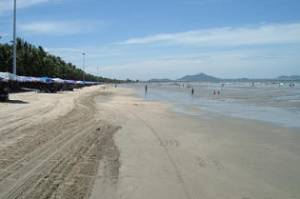Bang Saen Beach in Chonburi Province